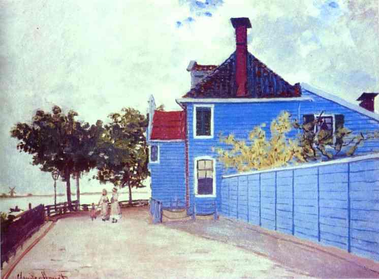 Claude-Monet-the-Blue-House-zaandam
