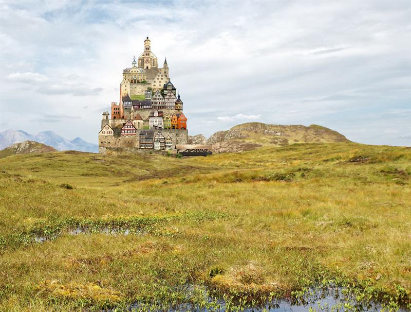 Surreal architectural landscape